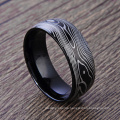Custome Stainless Steel Black Man Rings Carbon Fiber Vein Ring Custome Stainless Steel Black Man Rings Carbon Fiber Vein Ring