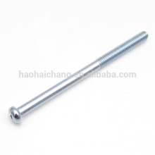 Chinese supplier slotted head half screw zinc plated threaded rod