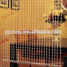 rideau transparent de perles de tansparent de cristal de vente chaude accrochant le cristal pour la décoration à la maison qui respecte l'environnement