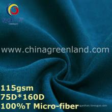Tela de sarga de poliéster con micro fibra para ropa casual (GLLML334)