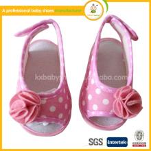 2015 0-1 anos de idade baby anti-skid suaves sapato de flor de renda sandálias bebê bebê no verão