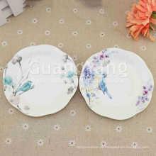Ano novo OEM ODM Serviço Disponível Porcelana Roxo Quadrado Conjunto De Louça De Cerâmica