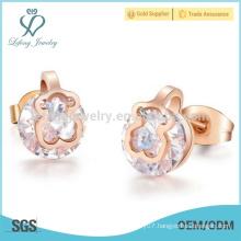 Latest model fashion single stone women earring designs