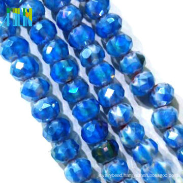wholesale plate shiny round beads for rosary making