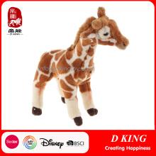 Изготовленный На Заказ Дешевые Мягкие Жираф Диких Животных Плюшевые Игрушки