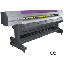 Impresora ancha de alta velocidad interior al aire libre de la cabeza de 1.8m Dx5 / Dx7 de la cabeza dual de 1.8m