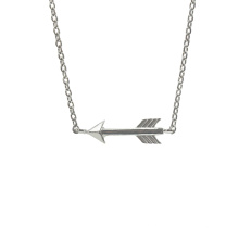 925 Sterling Silver High Polished Arrow Necklace