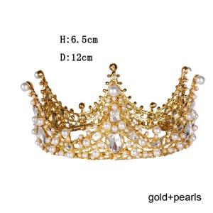 Coronas de novia redondas con diamantes grandes
