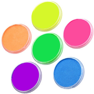 6 färger Halloween Neon Body Paint Paint Painting