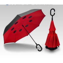 Kreativer doppelter Reverse Car Regenschirm