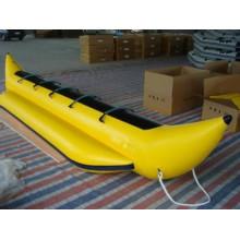 Bateau de banane gonflable jaune 5 personne