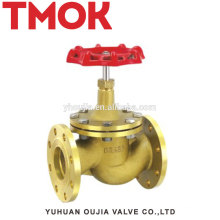 Red handle brass Flange stop valve