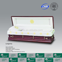 Couleurs de Style américain européen LUXES de cercueils main sculptée cercueils