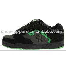 sapatos de skate casual de camurça preta