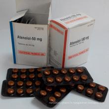 Comprimés Atenolol de haute qualité 50mg / 100mg