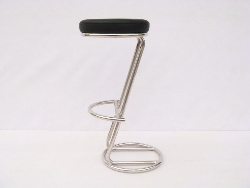 black leather barstool