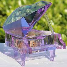 Hot Selling Crystal Piano Shape Music Box for Gift (KS32015)