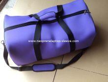 Purple Foldable Neoprene Travel Luggage Bags , Duffle Bags For Women