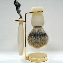 2013 Newest Hair Safety Razor with Shaving Brush Set, Customized Designs Available