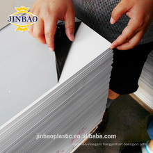 Jinbao 1.22*2.44m white gray hard surface rigid PVC plastic sheet