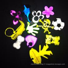 Jouets réfléchissants en plastique de Keychain de réflecteur de forme animale pour la sécurité
