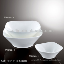 Emily series hotel & restaurant vaisselle en porcelaine blanche, assiette en porcelaine, porcelaine fine