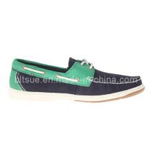 Chaussures pour bateaux en cuir colorées pour hommes jeunes