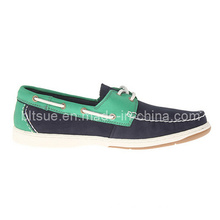 Young Men Mix Colour Leather Boat Shoes