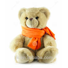 Personalizados peluche aduana bufanda de peluche de oso de peluche de encargo