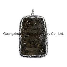 Горячий продавая шкентель Gemstone способа с кристаллическими крышками Rhinestone