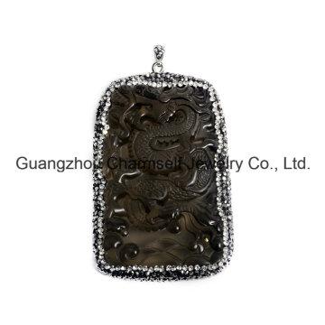 Colgante vendedor caliente de la piedra preciosa de la manera con los casquillos cristalinos del Rhinestone