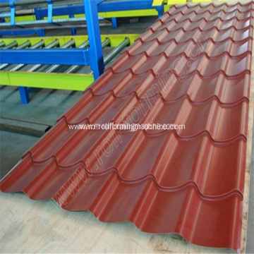 Steel roof tile production roll forming line