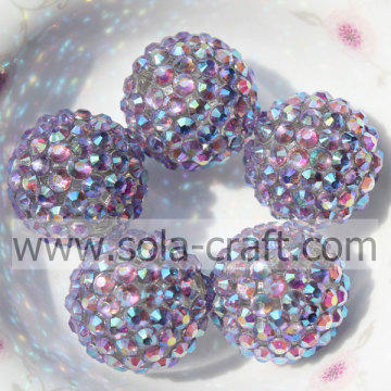 20 * 22mm solida resina Multicolor blu strass perline per gioielli fai da te