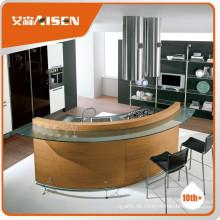 Die beste Wahl Holzfurnier-Flat-Pack Küchenschrank mit Waschbecken und Wasserhahn