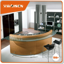 O armário de cozinha de melhor preço de madeira de encanamento de madeira com pia e faucet