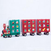 En gros ornement de Noël en bois Train pour enfants cadeau de Noël