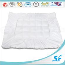 Pure White Cotton Microfaser gefüllte Matratze Topper Protector