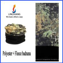 LINGSHANG bandana de poliéster personalizado bandana polar fleece multifunctional bandana