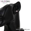 29114 boucles d'oreilles dormeuses en forme de cœur en zircon synthétique de la mode pour xuping