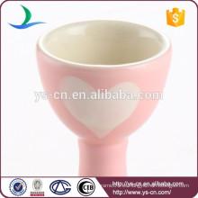Pink love heart decal lindo cerámica huevo titular de la Copa