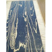 Plancher en bois solide de parquet en orme fumé de 3 couches