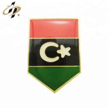 Personalizado metal ouro Kuwait bandeira resina esmalte lapela pin