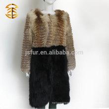 Фабричная прямая поставка Меховое пальто зимнего фейерверка европейского стиля