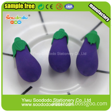 Eggplant Eraser ,Chinese  erasers for school
