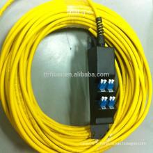 Panneau d'adaptateur à fibre optique pré-terminé à 8 ports avec fibre de fer
