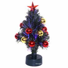 QUENTE! Xmas Branco Fibra Óptica caixa Árvores fonte de alimentação Papai Noel