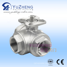 3-Way Ball Valve with ISO Mounting Pad