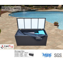 Hot sale rattan large outdoor storage box with lid.