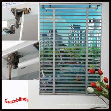 Antique wood blinds Wide ladder tape cord tilt 50mm basswood slats Window venetian blinds