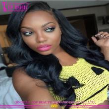 Cheap Brazilian Virgin Human Hair Glueless Lace Front Wigs Body Wave Silk Base Wig